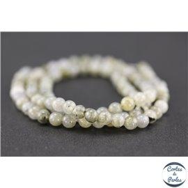 Perles semi précieuses en labradorite - Rondes/4 mm