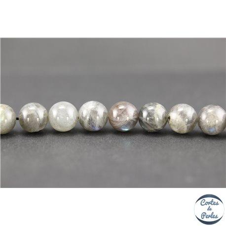 Perles semi précieuses en labradorite - Rondes/10 mm