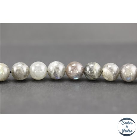 Perles en labradorite - Rondes/10mm - Grade A+