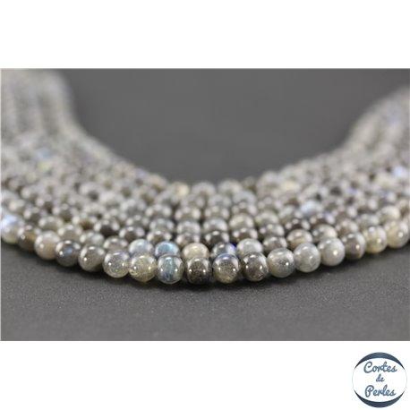 Perles semi précieuses en labradorite - Rondes/6 mm