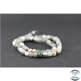 Perles en agate arbre - Ronde/6 mm