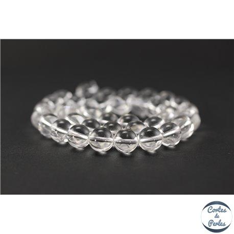 Perles en cristal de roche - Ronde/10 mm