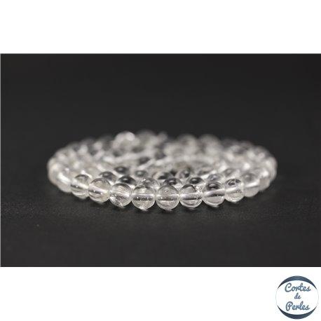Perles en cristal de roche - Ronde/6 mm