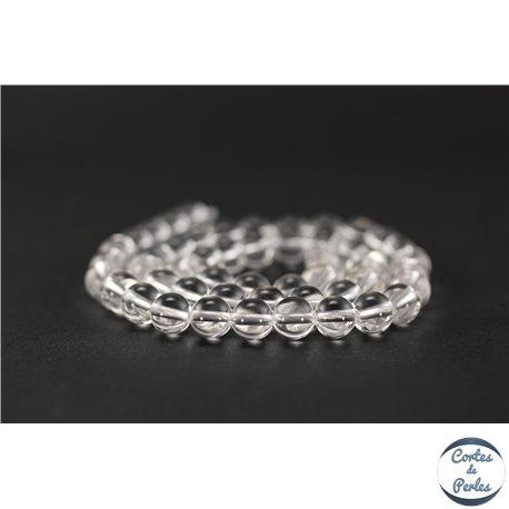 Perles en cristal de roche - Ronde/8 mm - Grade AA