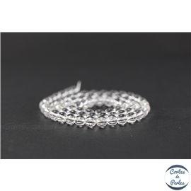 Perles en cristal de roche - Ronde/6 mm - Grade AA