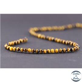 Perles en oeil de tigre - Rondes/4mm - Grade A