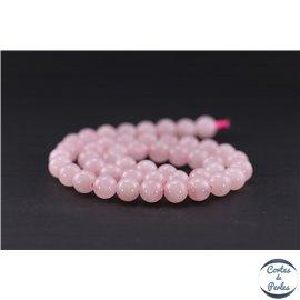 Perles en quartz rose de Madagascar - Ronde/8 mm - Grade AB
