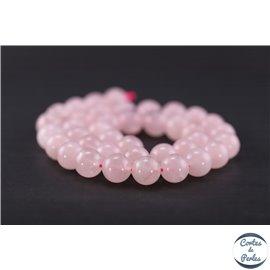 Perles en quartz rose de Madagascar - Ronde/10 mm - Grade AB