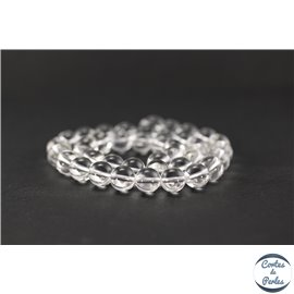 Perles en cristal de roche - Ronde/10 mm - Grade AA