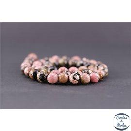 Perles facettées en rhodonite - Ronde/8 mm