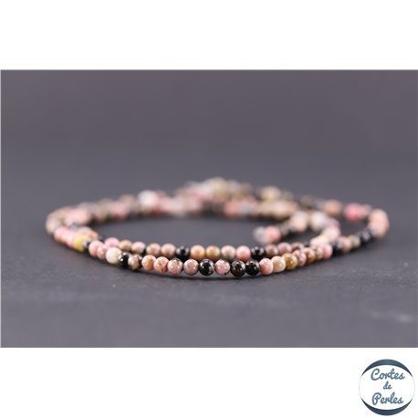 Perles en rhodonite - Ronde/3 mm