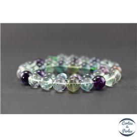 Perles en fluorite - Ronde/10 mm - Grade A