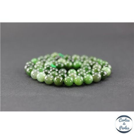 Perles en jade néphrite du Canada - Ronde/7 mm