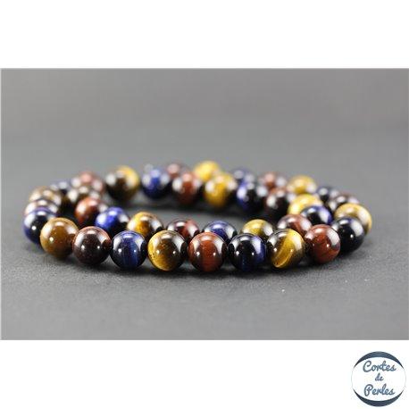 Perles en oeil de tigre - Ronde/10 mm - Grade A