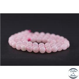 Perles en quartz rose de Madagascar - Ronde/6 mm - Grade AB
