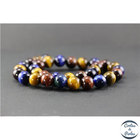 Perles en oeil de tigre - Ronde/12 mm - Grade A
