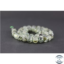 Perles facettées en préhnite - Rondes/8mm