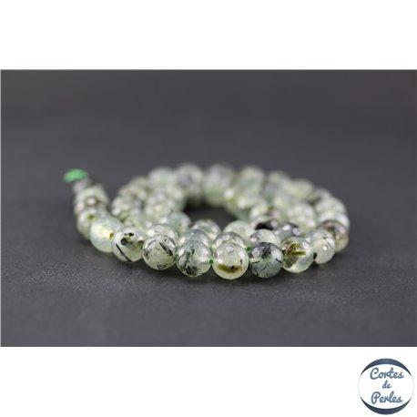 Perles facettées en préhnite - Ronde/8 mm