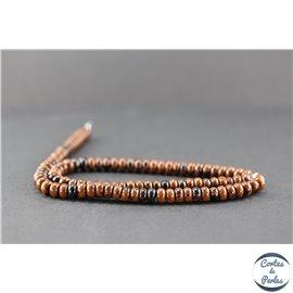 Perles en obsidienne acajou - Roue/6 mm