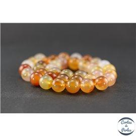 Perles en agate cornaline - Ronde/10 mm