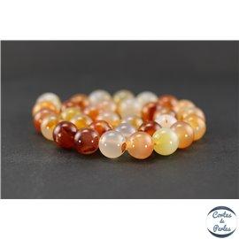 Perles en agate cornaline - Ronde/12 mm
