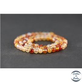 Perles en agate cornaline - Ronde/4 mm