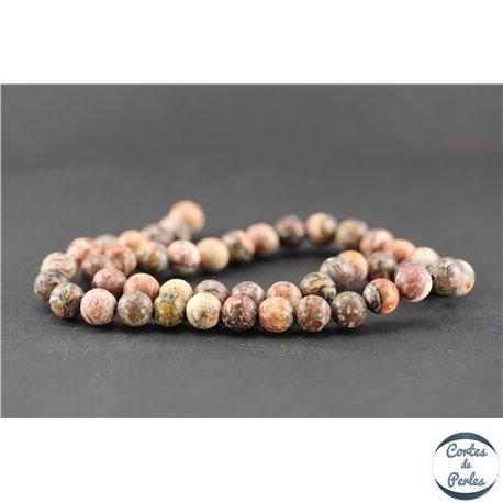 Perles en jaspe léopard - Ronde/8.5 mm