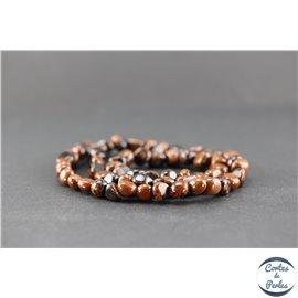 Perles en obsidienne acajou - Nuggets/7 mm