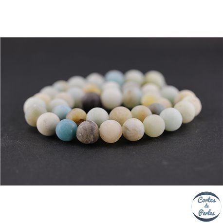 Perles dépolies en amazonite - Ronde/10 mm