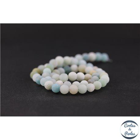Perles dépolies en amazonite - Ronde/6 mm