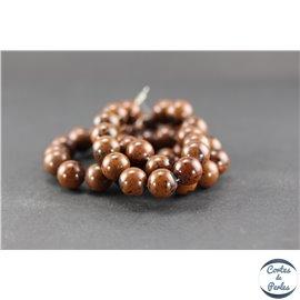 Perles en obsidienne acajou - Ronde/10 mm