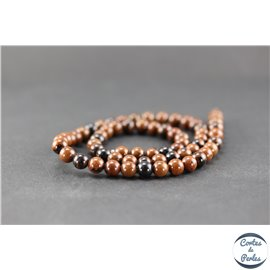 Perles en obsidienne acajou - Ronde/6 mm