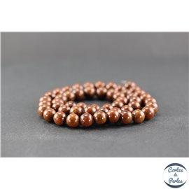 Perles en obsidienne acajou - Ronde/8 mm