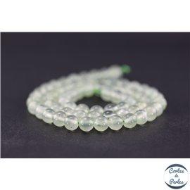 Perles en préhnite - Ronde/6 mm - Grade AA
