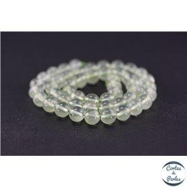 Perles en préhnite - Ronde/8 mm - Grade AA