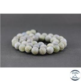 Perles dépolies en labradorite - Rondes/10mm