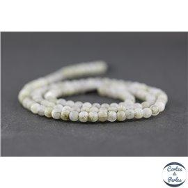 Perles dépolies en labradorite - Rondes/4mm