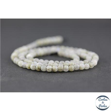 Perles dépolies en labradorite - Ronde/4 mm