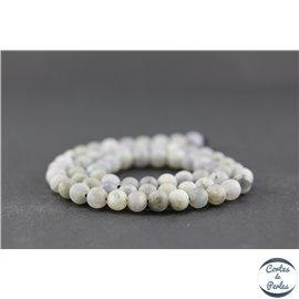 Perles dépolies en labradorite - Rondes/6mm