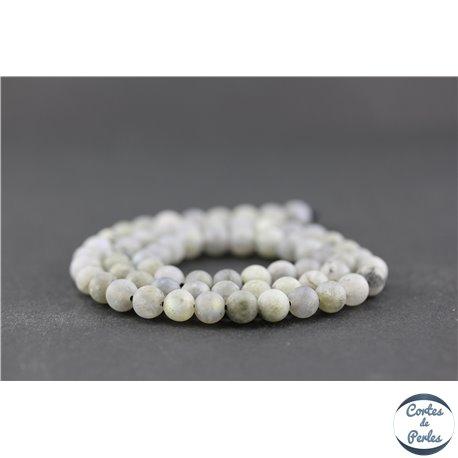 Perles dépolies en labradorite - Ronde/6 mm