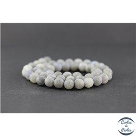Perles dépolies en labradorite - Rondes/8mm