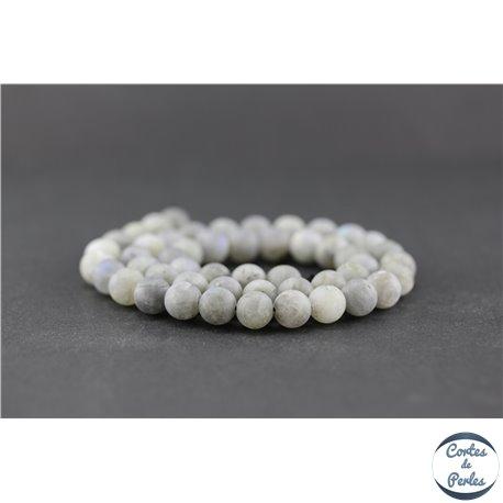 Perles dépolies en labradorite - Ronde/8 mm