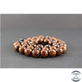 Perles facettées en obsidienne acajou - Ronde/10 mm