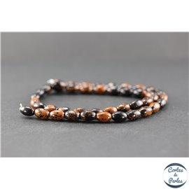 Perles en obsidienne acajou - Olive/6 mm