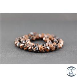 Perles facettées en obsidienne acajou - Pépite/6 mm