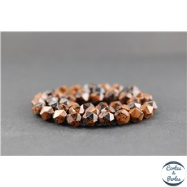 Perles facettées en obsidienne acajou - Pépite/8 mm