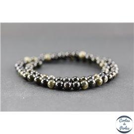 Perles en obsidienne dorée - Ronde/6 mm