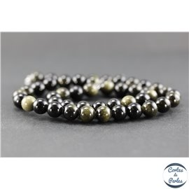 Perles en obsidienne dorée - Rondes/8mm