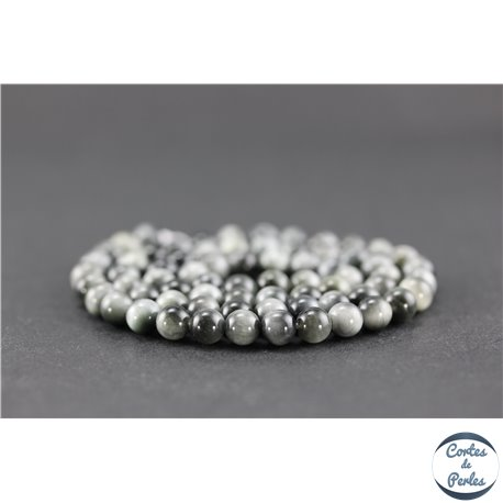 Perles en oeil d'aigle - Ronde/6 mm