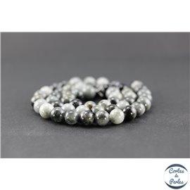 Perles en oeil d'aigle - Rondes/8mm - Grade A